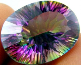 OVAL  MYSTIC QUARTZ  VVS  FACETED 22.65 CTS  GTT 195