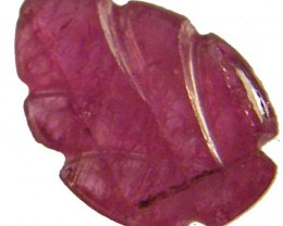 SAPPHIRE LEAF CARVINGS -NATURAL-PINK  1.10 CTS  [S4581 ]