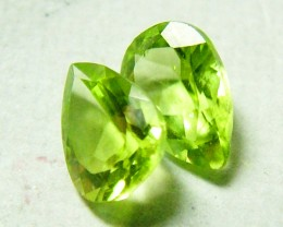 1.3 CTS  PERIDOT FACETED PAIR  NP-158