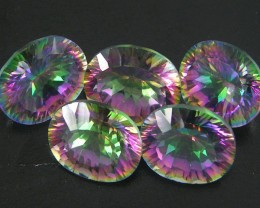 PARCEL 5 PC 14X10 MYSTIC QUARTZ VVS  FACETED 23.95CT GTT 262