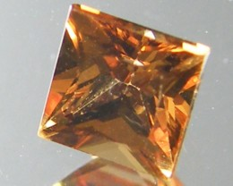 SQUARE FANCY CUT  ORANGE COLOUR SAPPHIRE  0.45CARAT  TW 917