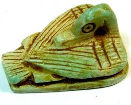 EGYPTIAN DUCK ORNAMENT COLLECTABLE 52.55 CTS LT-182 (LT-GR)