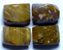 PETRIFIED WOOD BEADS, (4PC) 84.30CTS NP-849