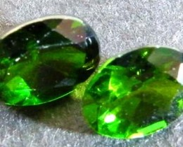 CHROME DIOPSIDE  PAIR FROM RUSSIA   2.45  CTS  VVS [S4638]