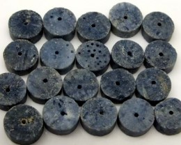 BLUE CORAL DRILLED BEADS 85 CTS TBG-1968