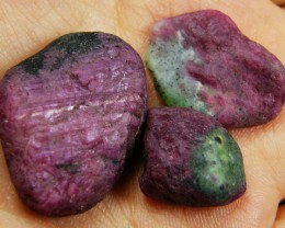 PARCEL HAND PICKED  RUBY -ZOISITE ROUGH   CTS GTT307