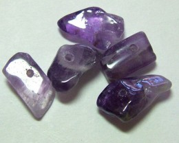 AMETHYST DRILLED BEAD CHIP PARCEL 11 CTS NP-220