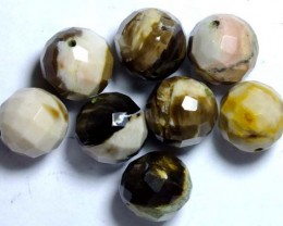 PETRIFIED WOOD BEADS, (8PC) 62.45CTS NP-1033