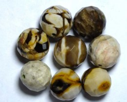 PETRIFIED WOOD BEADS, (8PC) 58.75CTS NP-1011