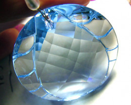 SWAROVSKI CRYSTAL -BLUE FACETED SUNCATHER  250 CTS