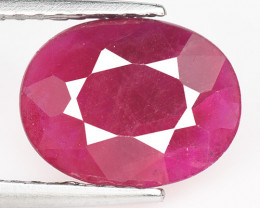 *NoReserve*Ruby BURMA 1.30 Cts Pinkish Red Natural Gemstone
