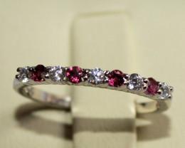 Natural Garnet 925 Silver Ring 225