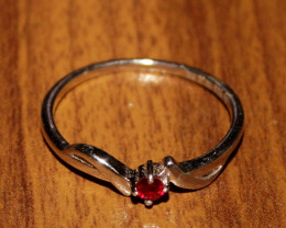 Natural Ruby 925 Silver Ring 238