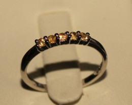 Natural Sapphire 925 Silver Ring 237