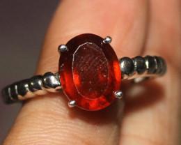 Natural Garnet 925 Silver Ring 4