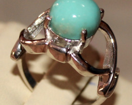 Natural Turquoise 925 Silver Ring 47