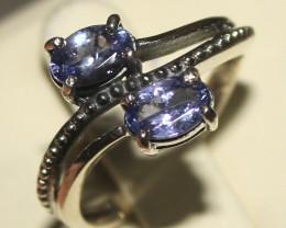 Natural Tanzanite 925 Silver Ring 3