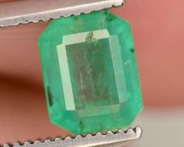 Top Color 0.85 ct Natural Emerald~Swat ~ K