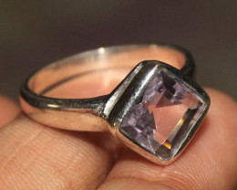 Natural Amethyst 925 Silver Ring 13