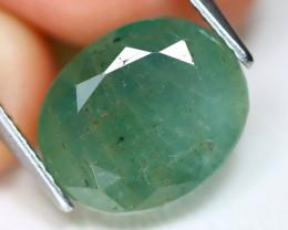 Zambian Emerald 6.76Ct Oval Cut Natural Green Color Emerald A1807