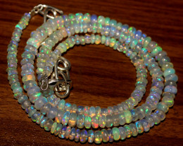 43 Crts Natural Ethiopian Welo Opal Necklace 452