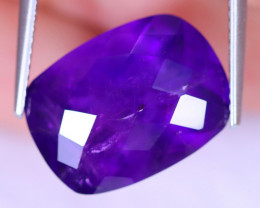 9.21cts Natural Purple Checkerboard Cut Amethyst / MA913