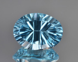 Natural Blue Topaz 5.73 Cts Concave Cut.