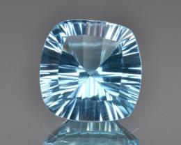 Natural Blue Topaz  6.45 Cts Concave Cut.