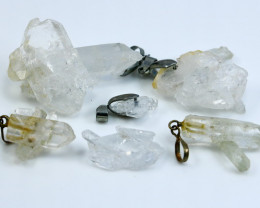 NR!!!! 231.55 Cts Natural - Unheated With Quartz Pendant Lot