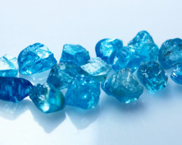 39 Cts Natural - Unheated Blue Zircon Rough Lot