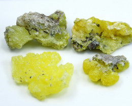 NR!!!! 366.20 Cts Natural - Unheated Yellow Brucite Specimen Lot