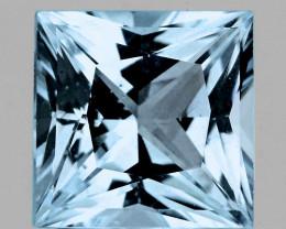 4.00 mm Square Princess 0.31ct Blue Aquamarine [VVS]