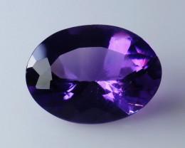 3.23 Cts Natural - Unheated Purple Amethyst Gemstone