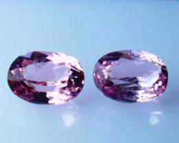 GGTI-Certified-1.05  ct Pink Morganite  Gemstone Natural Pair