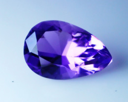 5.45 Cts Natural - Unheated Purple Amethyst Gemstone