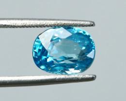 NR!!!! 3.70 CTs Natural Blue Zircon Gemstone