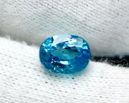 NR!!!! 3.90 CTs Natural Blue Zircon Gemstone