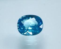 NR!!!! 3.75 CTs Natural Blue Zircon Gemstone