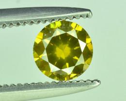Top Quality 0.35 ct Yellow Diamond