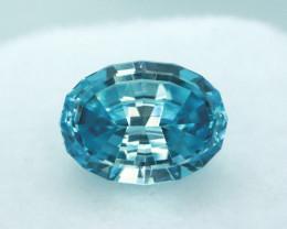 3.74ct Blue Zircon Master cut Gemstone