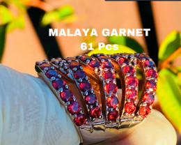 61 MALAYA GARNET- BEST QUALITY - HANDMADE
