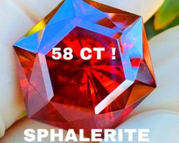 58 CT SPHALERITE- incredibly beautiful !! RARE