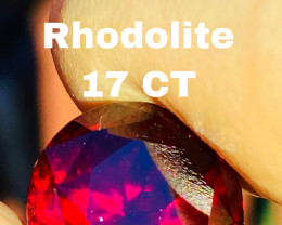 17 CT-BEST QUALITY RHODOLITE  MASTER CUT