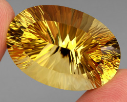 63.65 ct. Top Quality Natural Golden Yellow Citrine Brazil Unheated