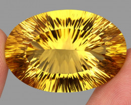 66.55 ct. Top Quality Natural Golden Yellow Citrine Brazil Unheated