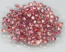 2.99 Ct 1.6mm 120p Round Diamond Cut 100% Natural Top Padparadscha Sapphire