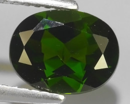 1.95 CTS NATURAL UNHEATED DARK GREEN CHROME DIOPSIDE OVAL EXCELLENT~