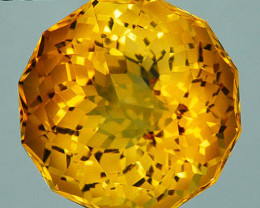 ~CUSTOM CUT~ 8.94 Cts Natural Golden Orange Citrine Round 12 mm Fancy Brazi