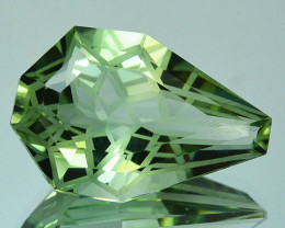 ~CUSTOM CUT~ 12.60 Cts Natural Prasiolite / Amethyst Fancy Cut Brazil