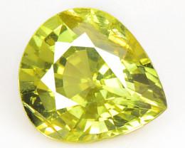 1.07 Cts Very Rare Yellowish Green Color Natural Chrysoberyl Gemstones